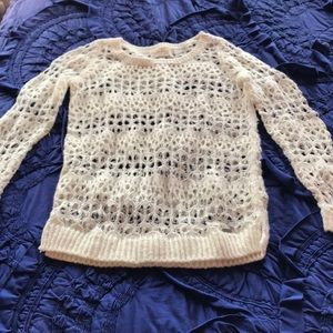 Cream Like New Hollister Sweater